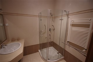 Bathroom with seperate shower area
