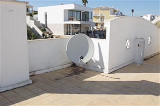 Roof terrace with satelitte dish